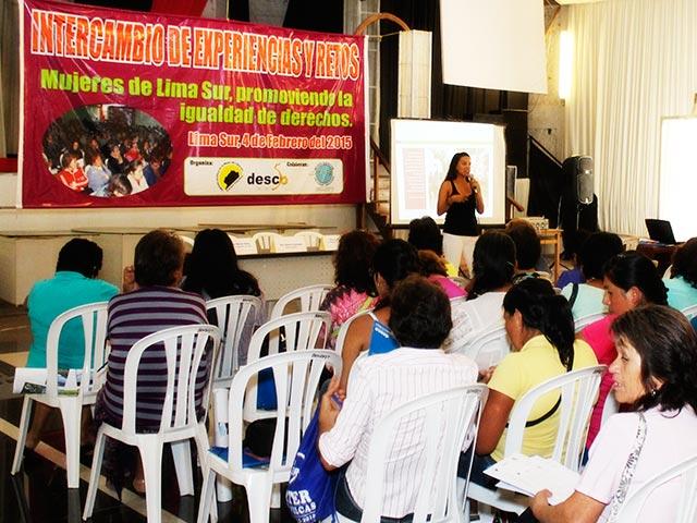 Mujeres de 4 distritos, impulsan los Derechos Económicos, Sociales y Culturales en Lima-Sur