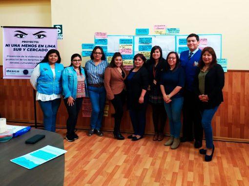 Ni una menos en Lima Sur y Cercado: prevención de la violencia de género y promoción de los derechos económicos, sociales, culturales y ambientales